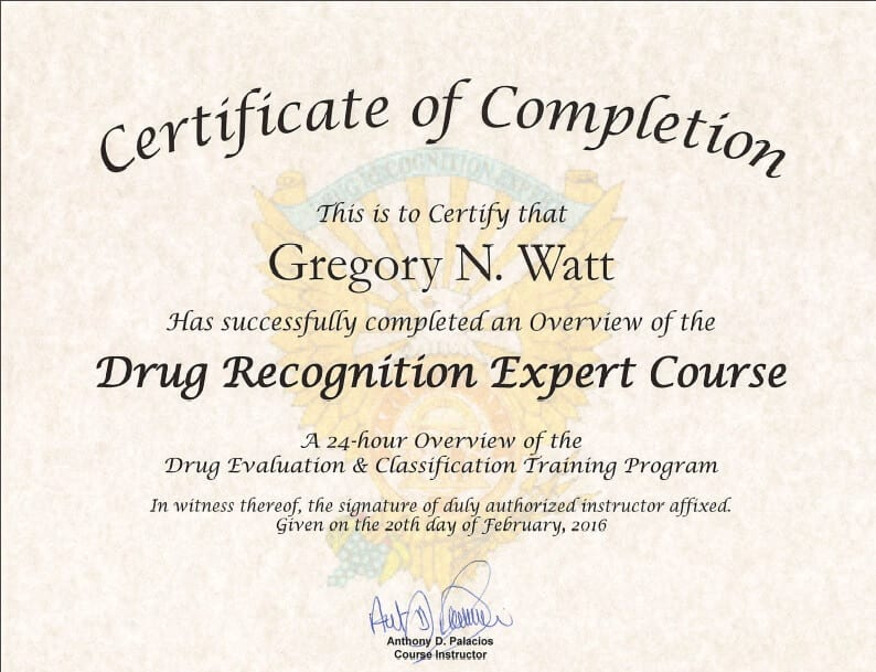 how to become a drug recognition expert
